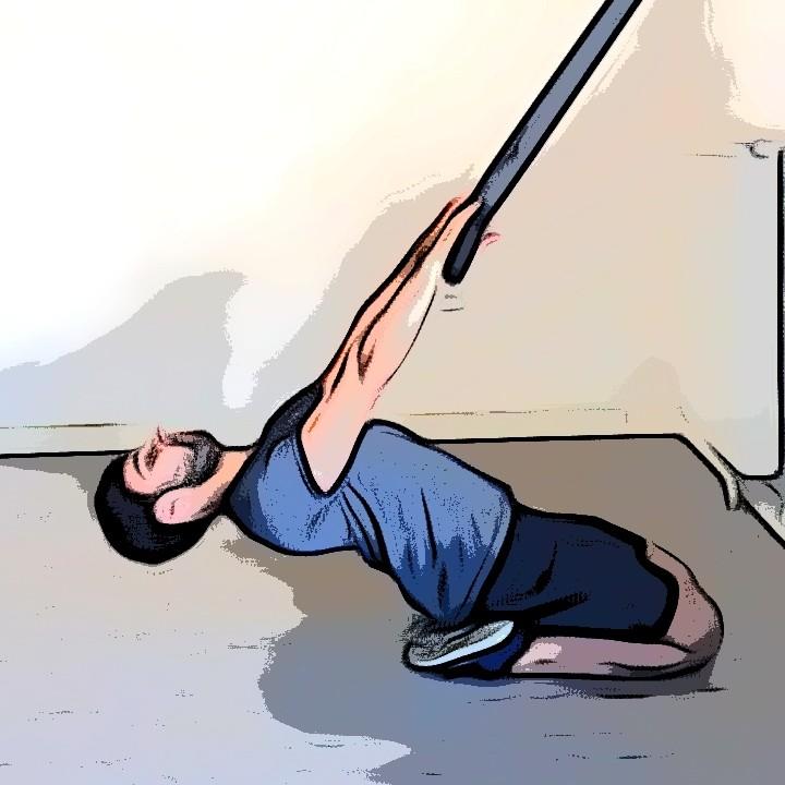 TRX, Étirement des quadriceps avec suspension - Etape 2