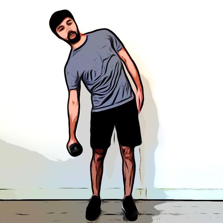 Miniature Flexion latérale oblique debout