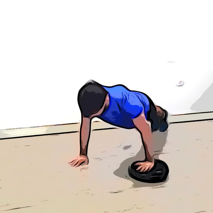 Pompe avec un coussin d'équilibre - Etape 1