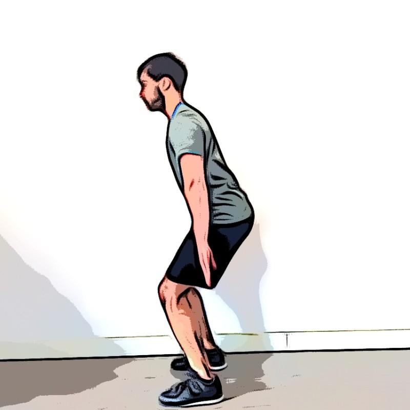Jump squat - Etape 3