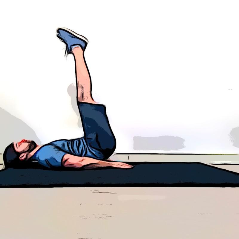 Lever de jambes au sol - Etape 2