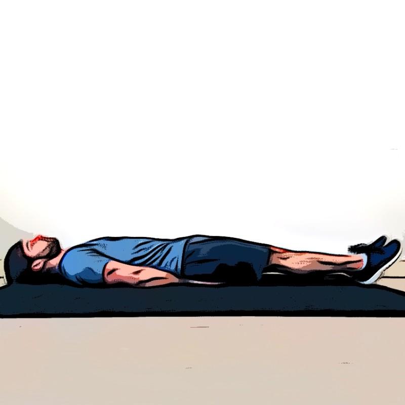 Lever de jambes au sol - Etape 3