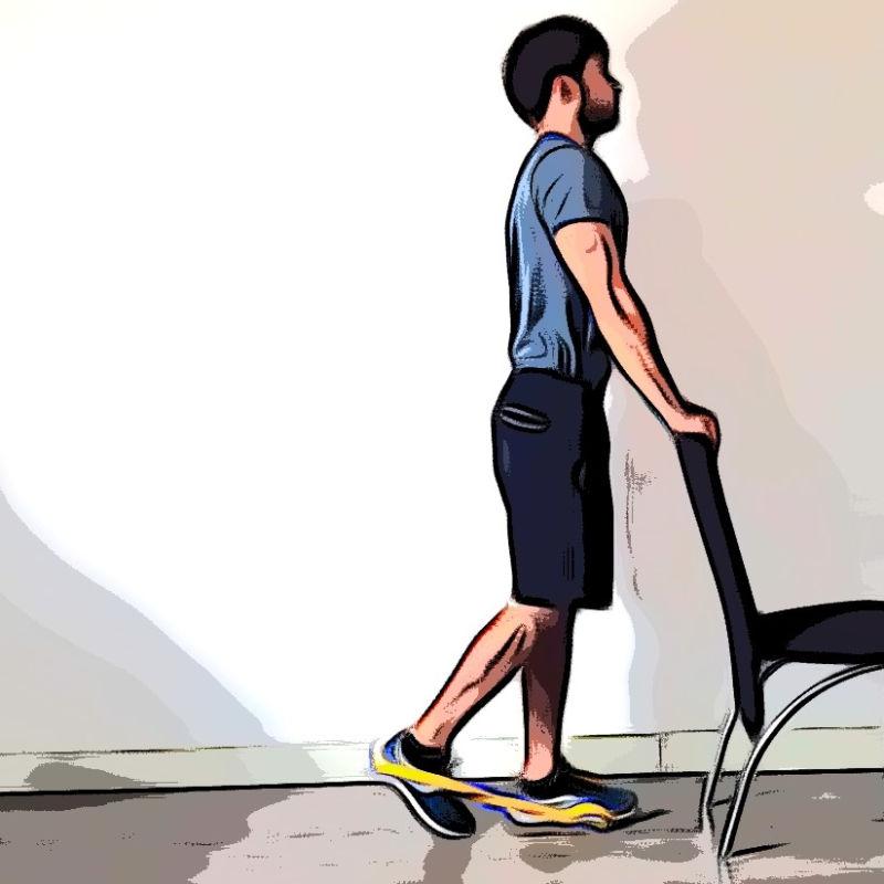 Leg curl debout avec élastique - Etape 3