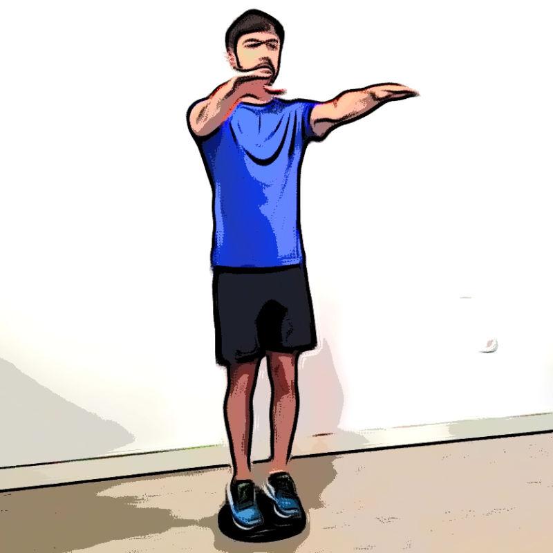 Squat avec coussin d'équilibre - Etape 1