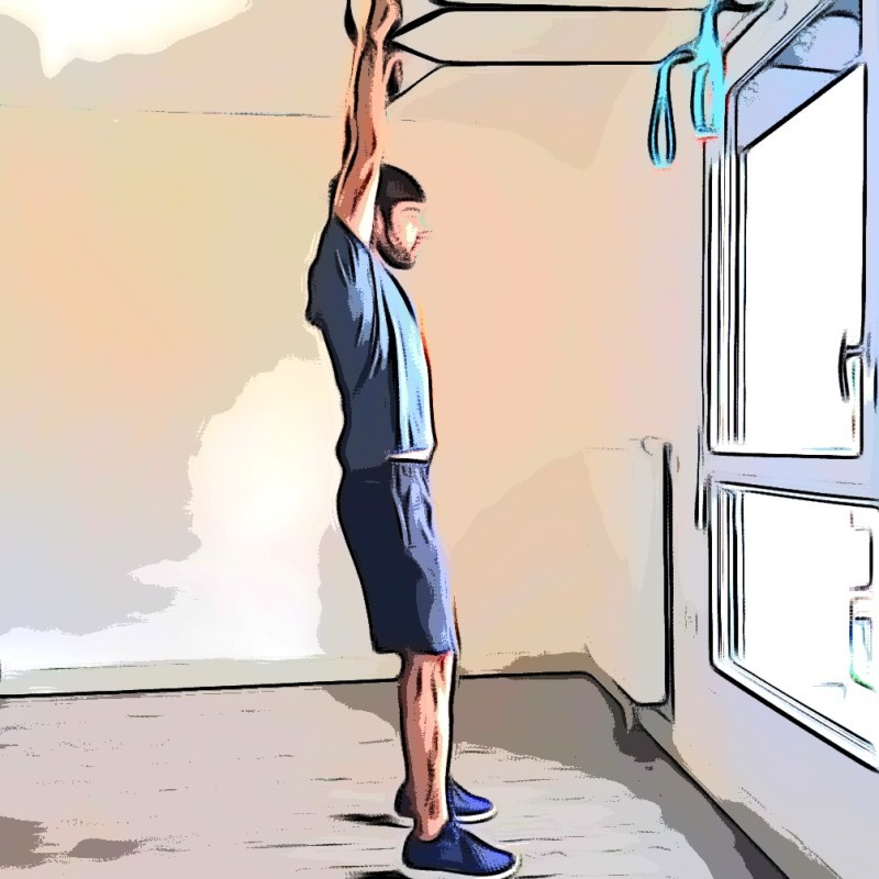 TRX overhead squat - Etape 1