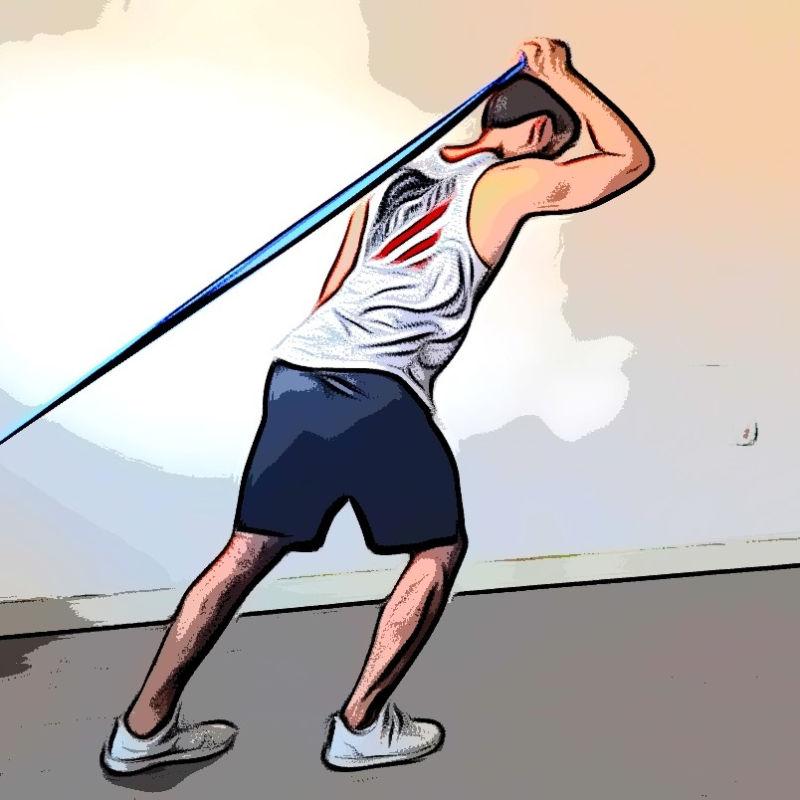 Extension triceps au dessus de la tête avec élastique - Etape 1