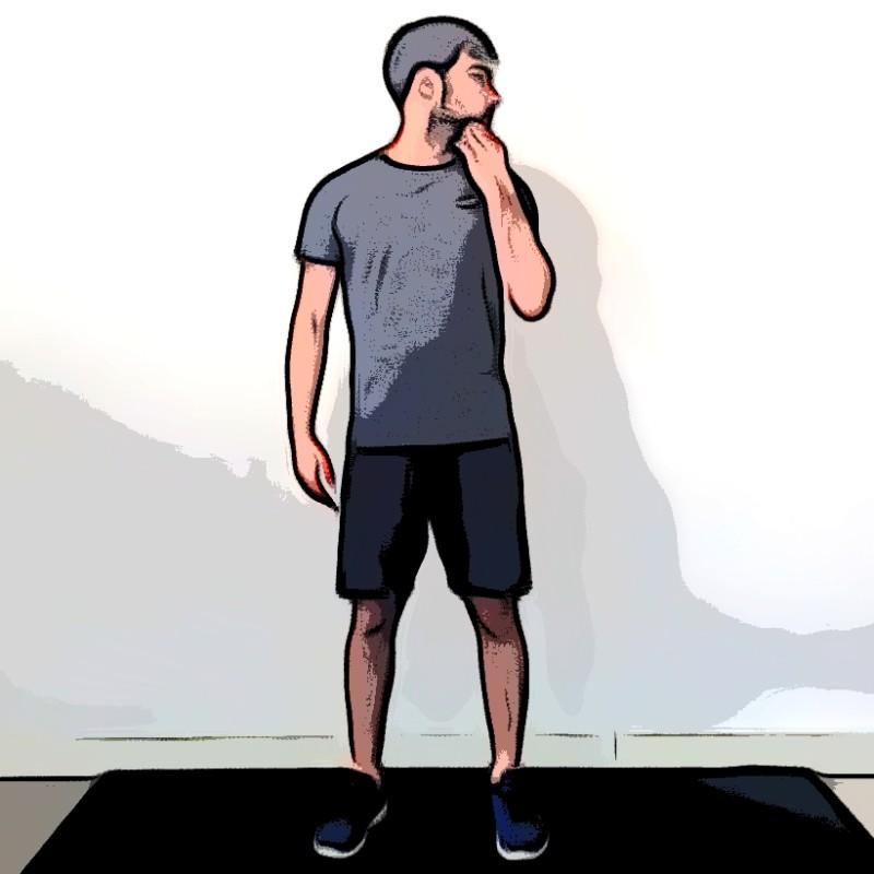 Étirement du cou avec rotation de la tête - Etape 1