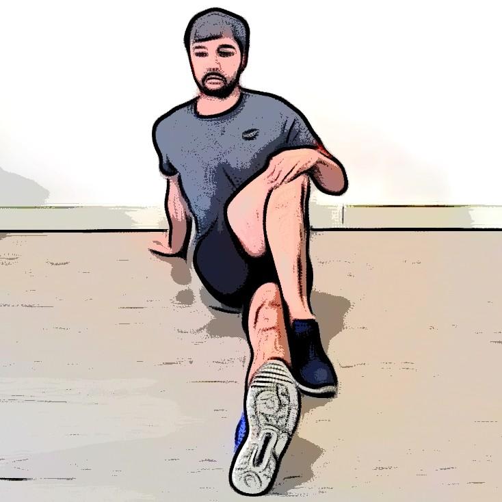 Miniature Étirement fessiers jambes croisée assis