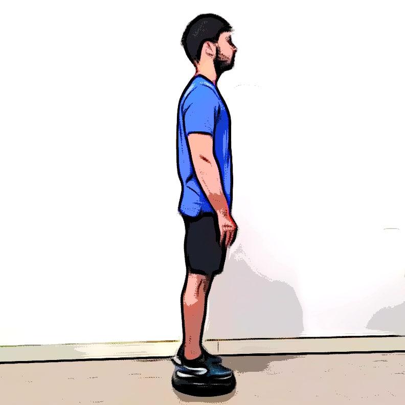 Équilibre horizontal sur une jambe - Etape 3