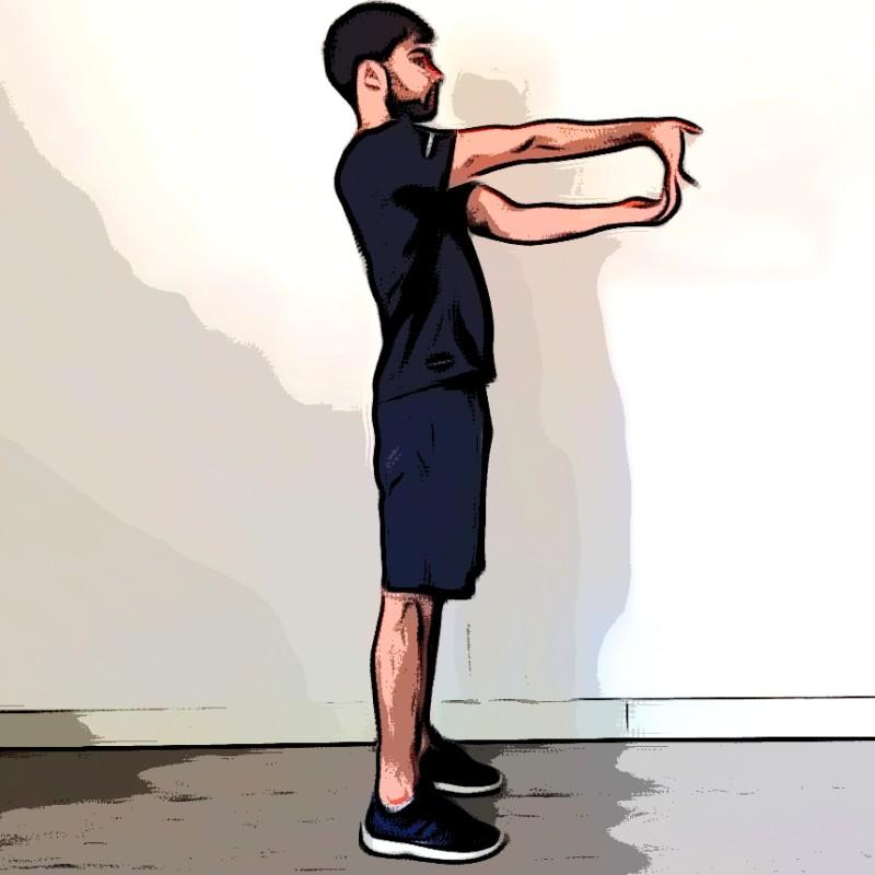 Miniature Étirement biceps bras tendu devant