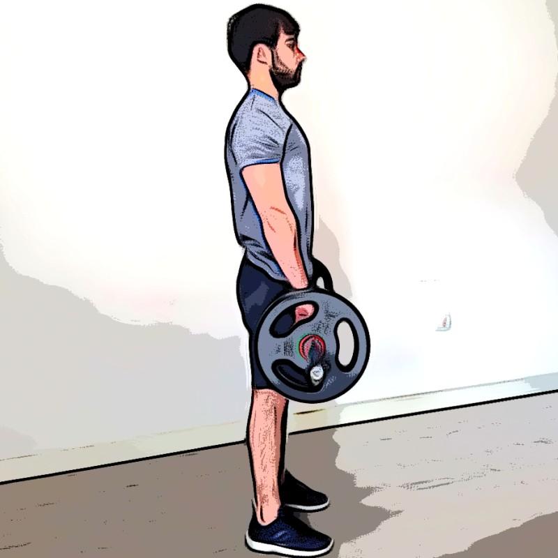 Curl biceps barre pronation - Etape 1