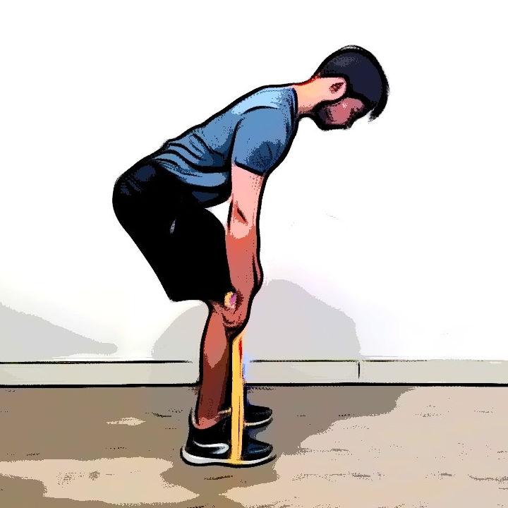 Rowing avec élastique - Etape 3