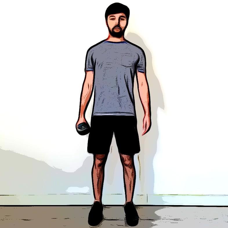 Flexion latérale oblique debout - Etape 3