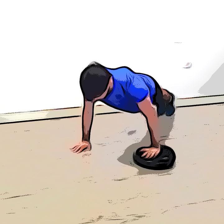 Pompe avec un coussin d'équilibre - Etape 3