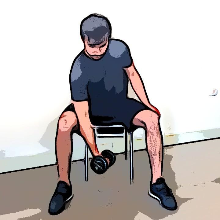 Curl biceps concentré - Etape 3