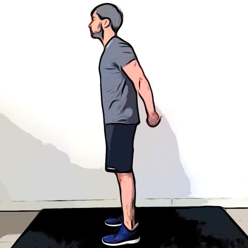 Étirement des deltoïdes mains jointes dans le dos - Etape 1
