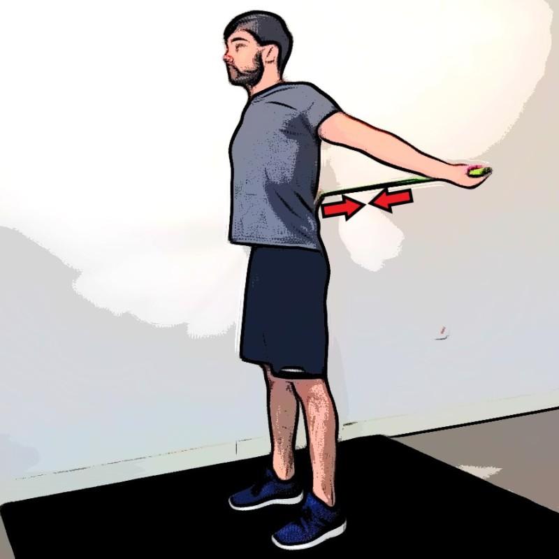 Étirement des pectoraux avec une barre - Etape 2