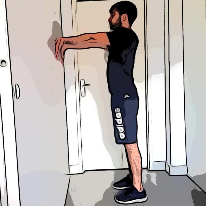 Étirement biceps bilatéral - Etape 1