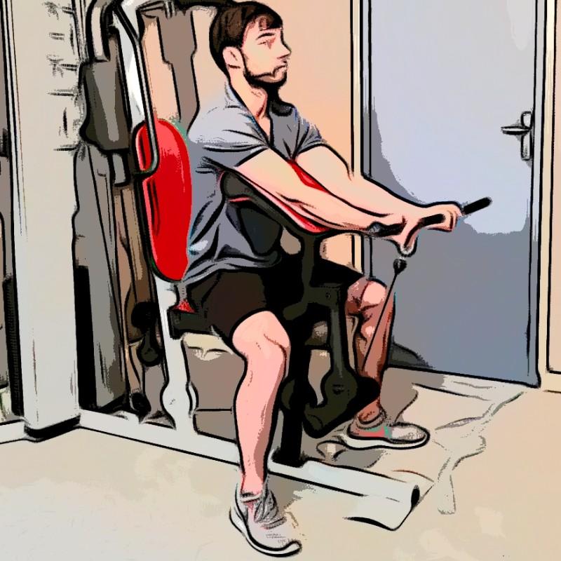 Curl biceps pupitre barre - Etape 3