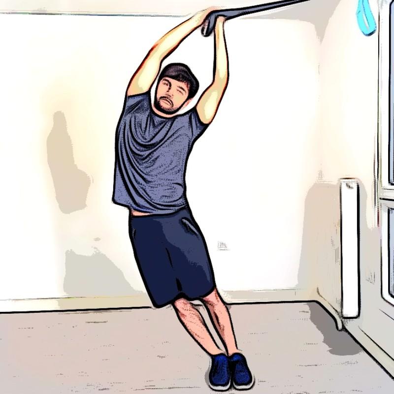 TRX flexion latérale oblique