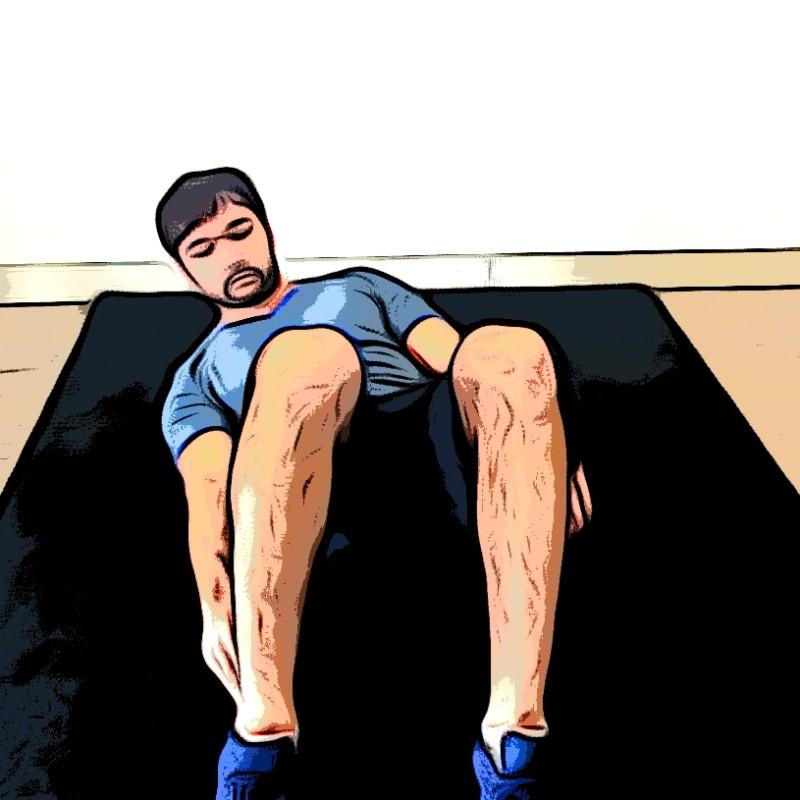 Flexions latérales sur tapis - Etape 3