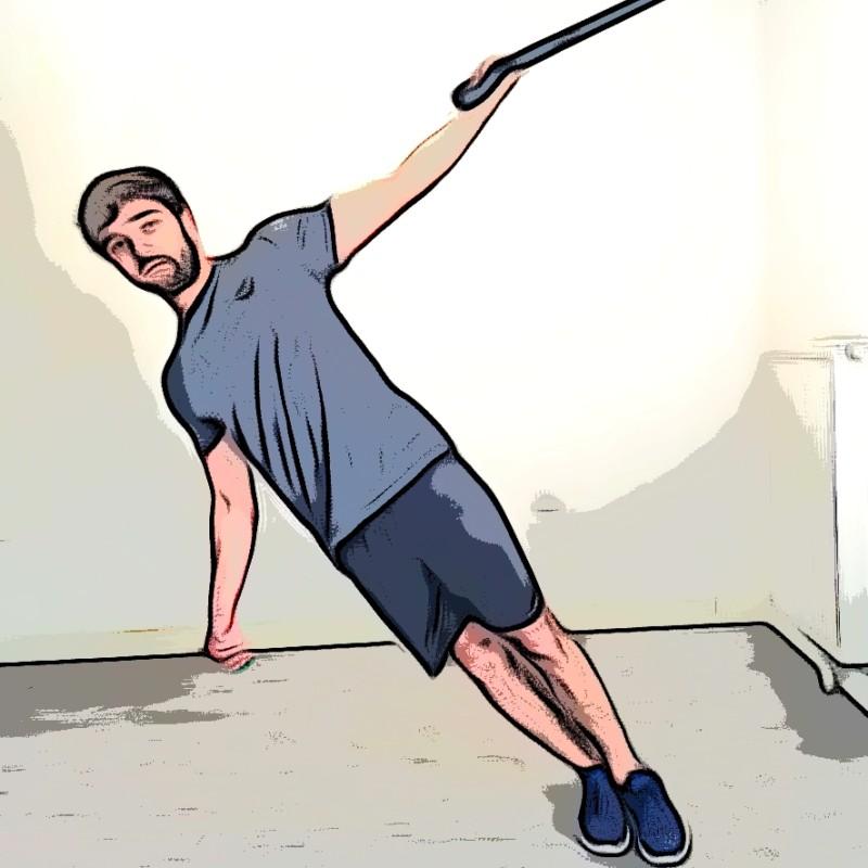 TRX curl biceps 1 bras - Etape 1