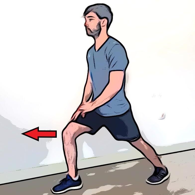 Étirement mollets debout avec appui sur le genou - Etape 2