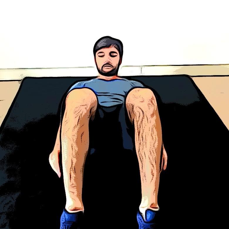 Flexions latérales sur tapis - Etape 1