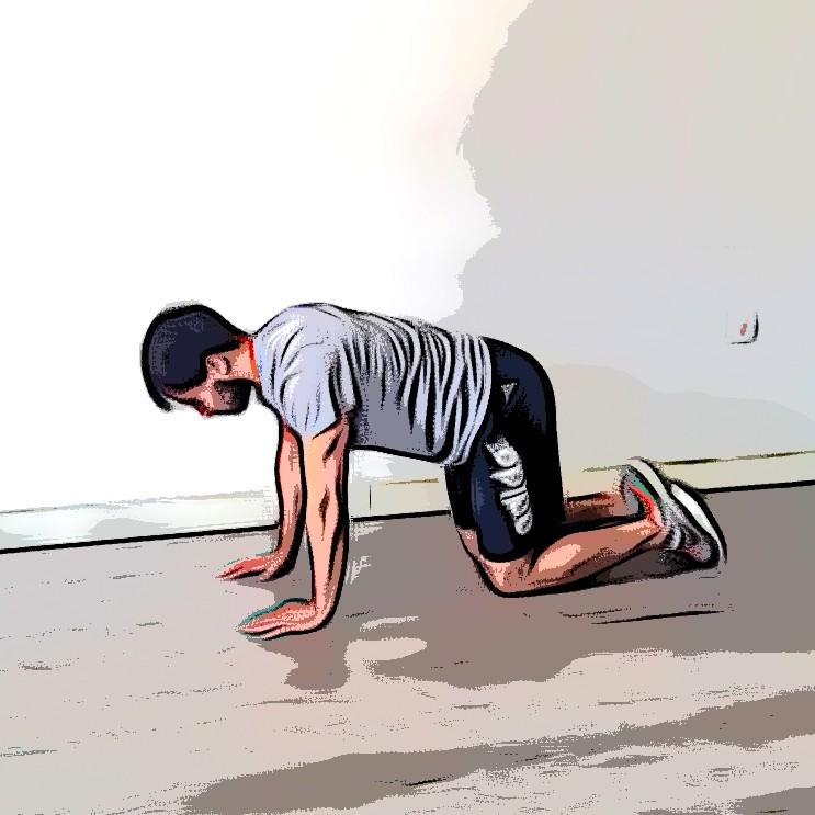 Extension de jambe/bras au sol - Etape 1