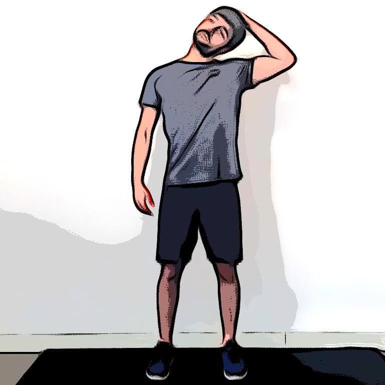 Étirement latéral du cou - Etape 1